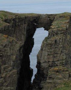 Caithness natural arch.